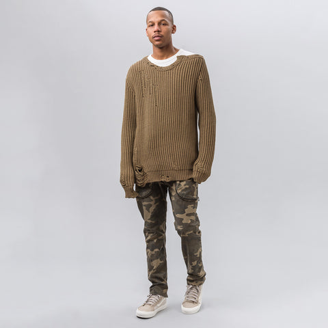 Faith Connexion Cotton Sweater in Army Khaki - Notre