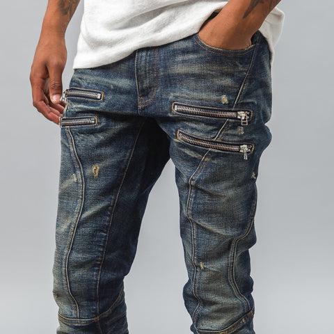Faith Connexion Zipped Run Denim in Indigo - Notre