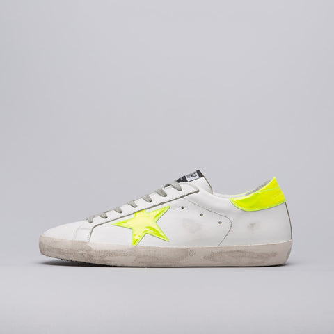 Golden Goose Superstar Sneaker in White/Yellow - Notre