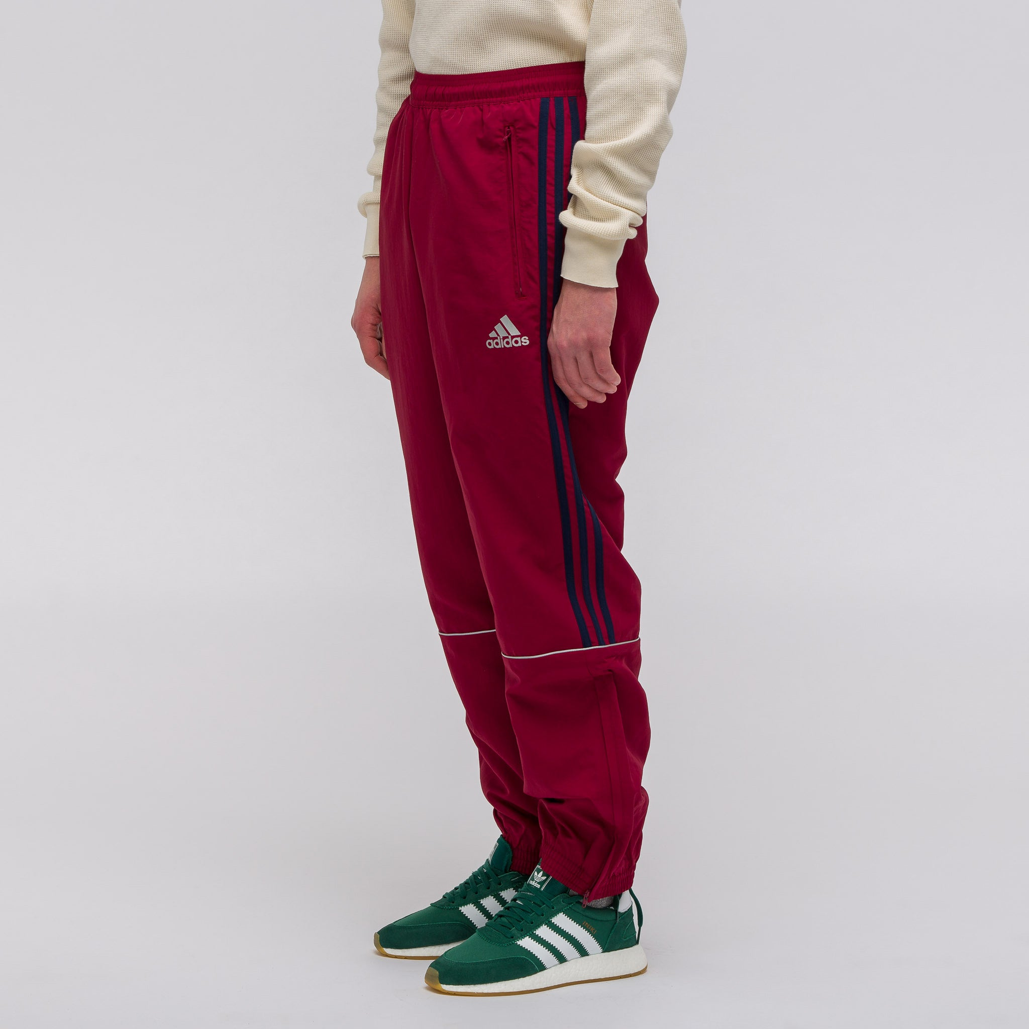 x Adidas Track Pant in Burgundy