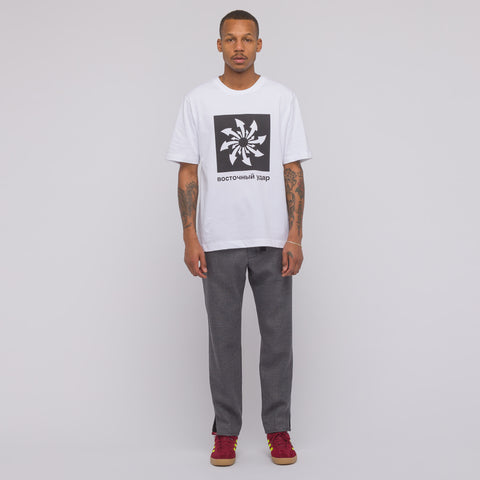 Gosha Rubchinskiy Arrows T-Shirt in White - Notre
