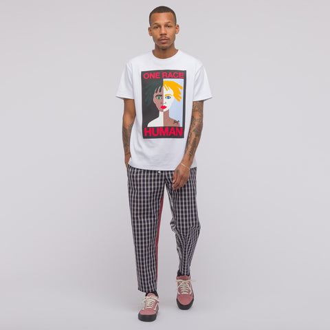 Gosha Rubchinskiy Combo Check Pant in Red Plaid - Notre