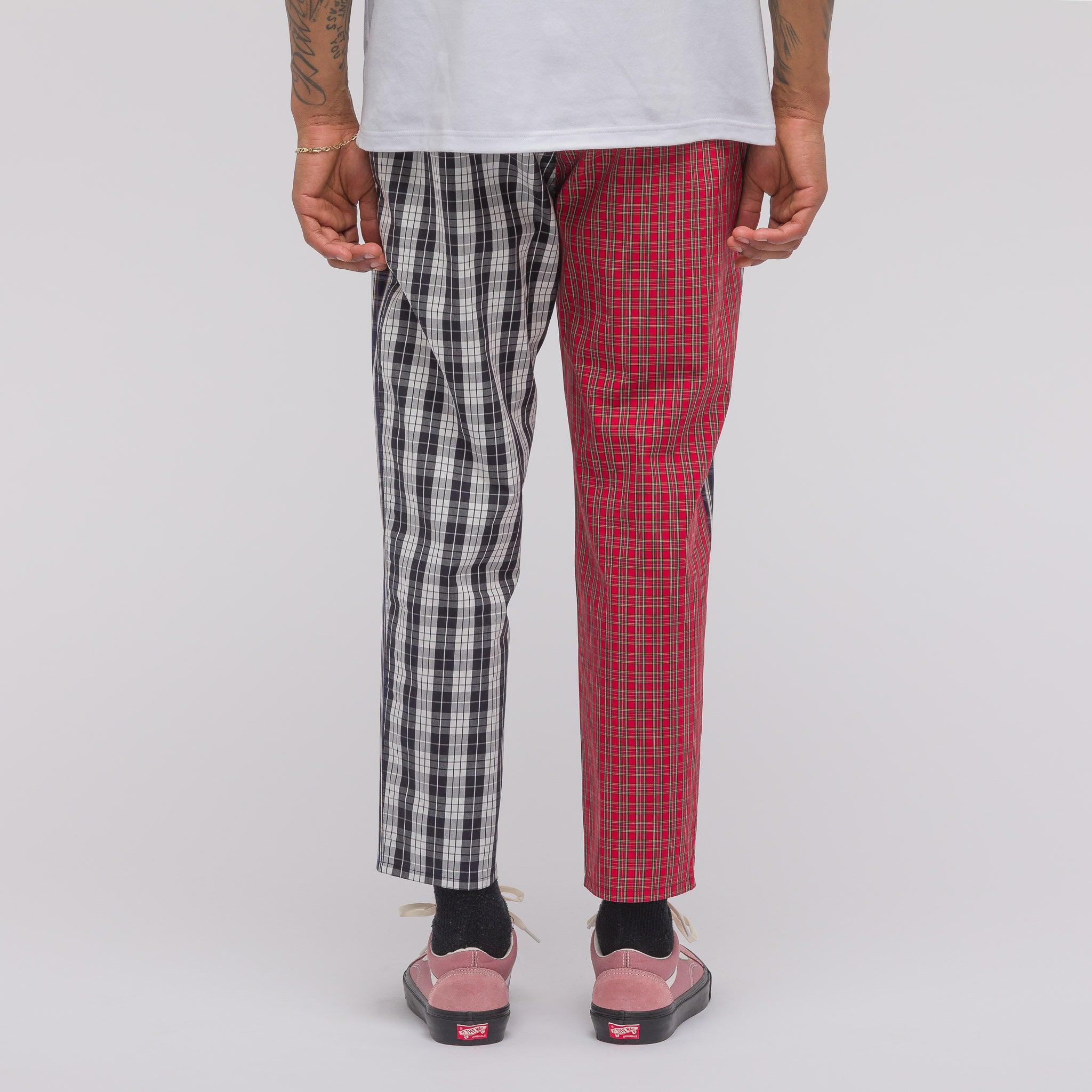 Combo Check Pant in Red Plaid