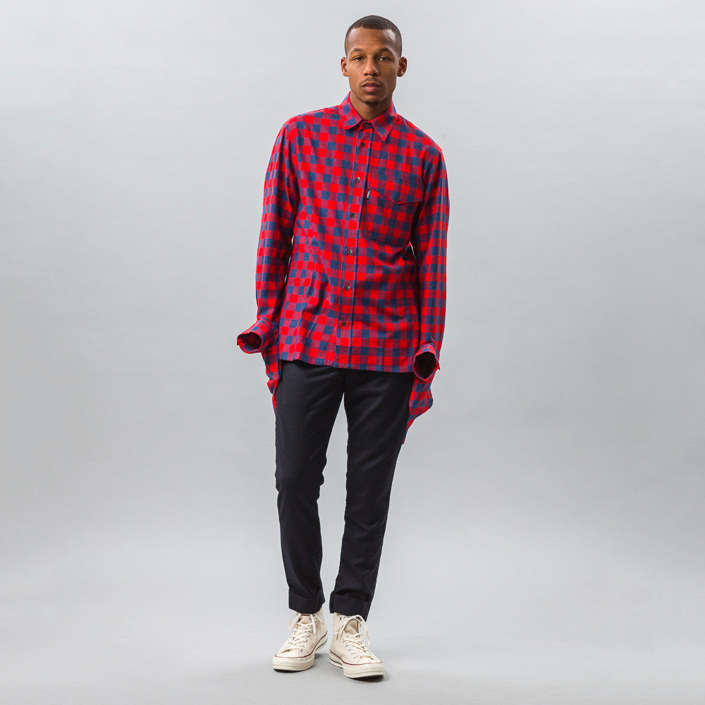 Gosha Rubchinskiy - Cotton Shirt with Double Cuff in Red Check - Notre - 1