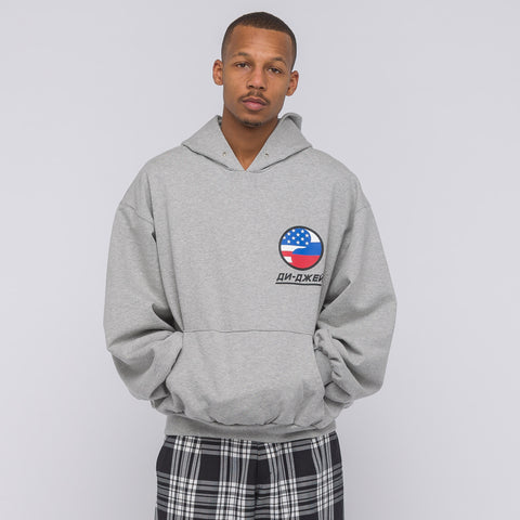 Gosha Rubchinskiy DJ Hooded Sweatshirt in Grey - Notre
