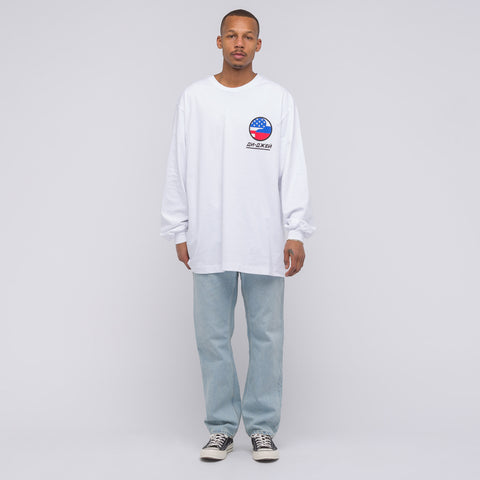Gosha Rubchinskiy DJ Oversize Long Sleeve T-Shirt in White - Notre