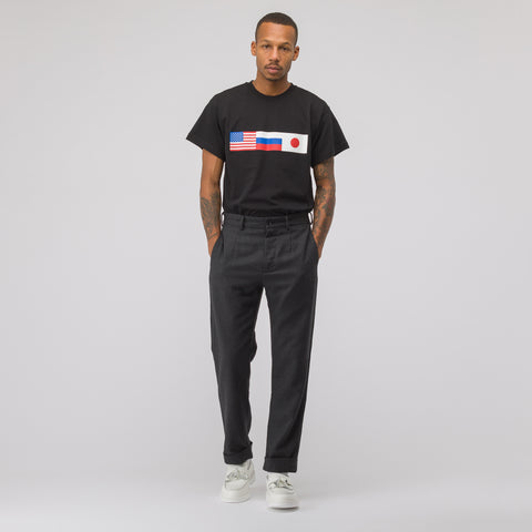 Gosha Rubchinskiy Flag T-Shirt in Black - Notre
