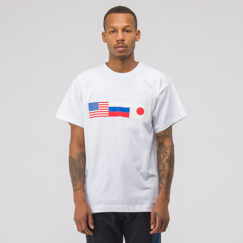 Gosha Rubchinskiy Flag T-Shirt in White - Notre