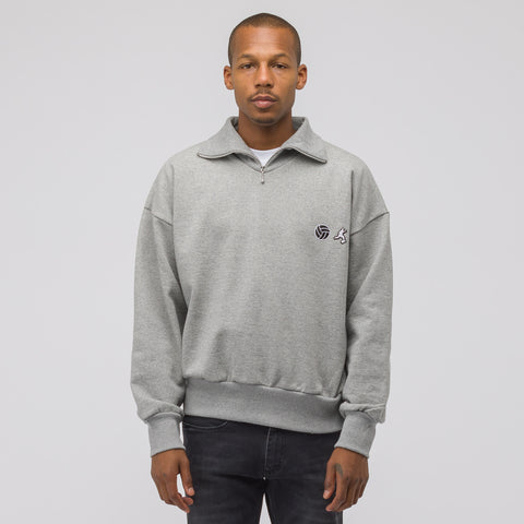 Gosha Rubchinskiy Collar Zip Sweatshirt in Grey - Notre