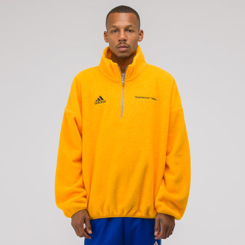 Gosha Rubchinskiy x adidas Fleece Top in Gold - Notre