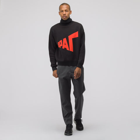 Gosha Rubchinskiy Graphic Knit Sweater in Black/Red - Notre