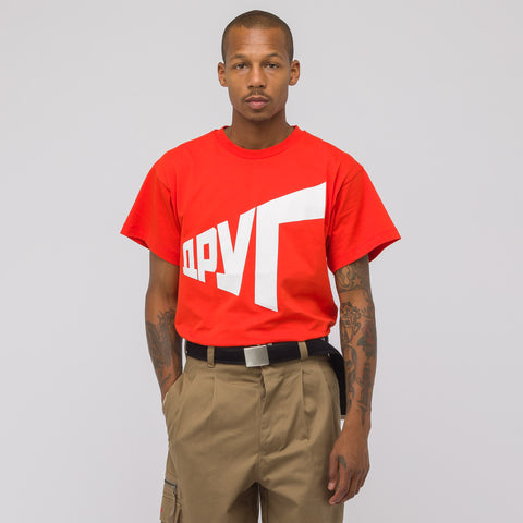 Gosha Rubchinskiy Graphic T-Shirt in Red - Notre