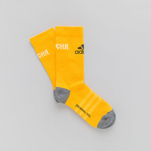 Gosha Rubchinskiy x adidas Socks in Yellow - Notre