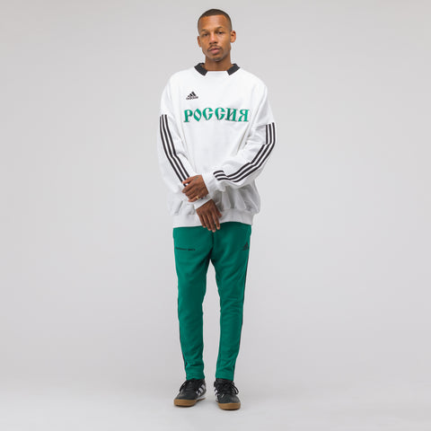 Gosha Rubchinskiy x adidas Sweat Top in White/Green - Notre