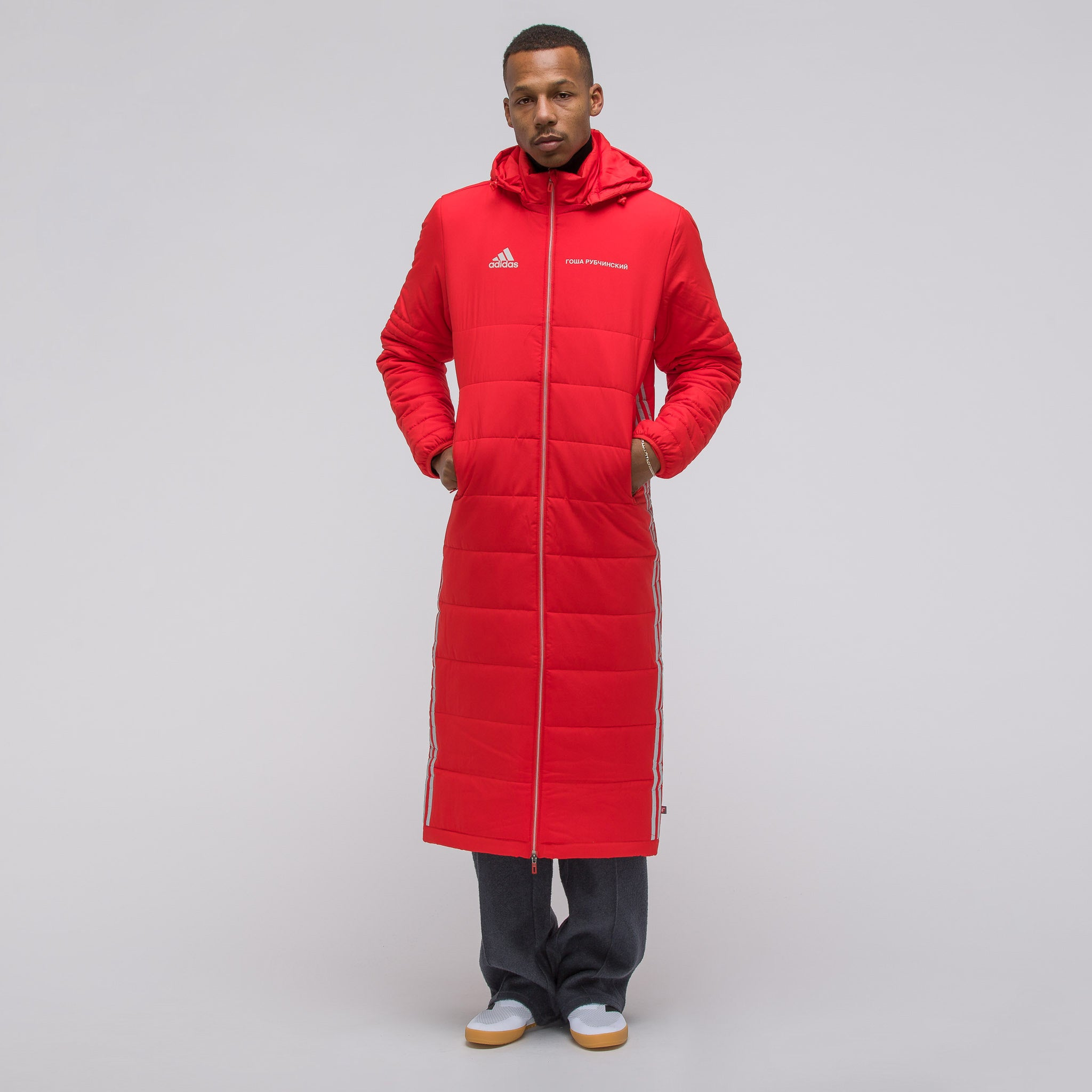 x adidas Wind Coat in Red