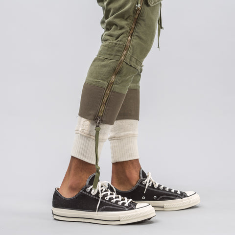 Greg Lauren Army Jacket  Lounge Pant in Olive - Notre