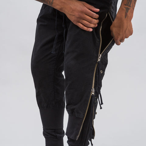 Greg Lauren Black Tent Fleece Lounge Pant - Notre