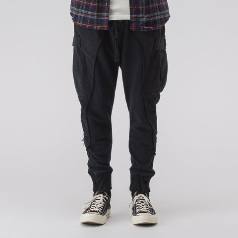 Greg Lauren M51/Fleece Slim Lounge Pant in Black - Notre