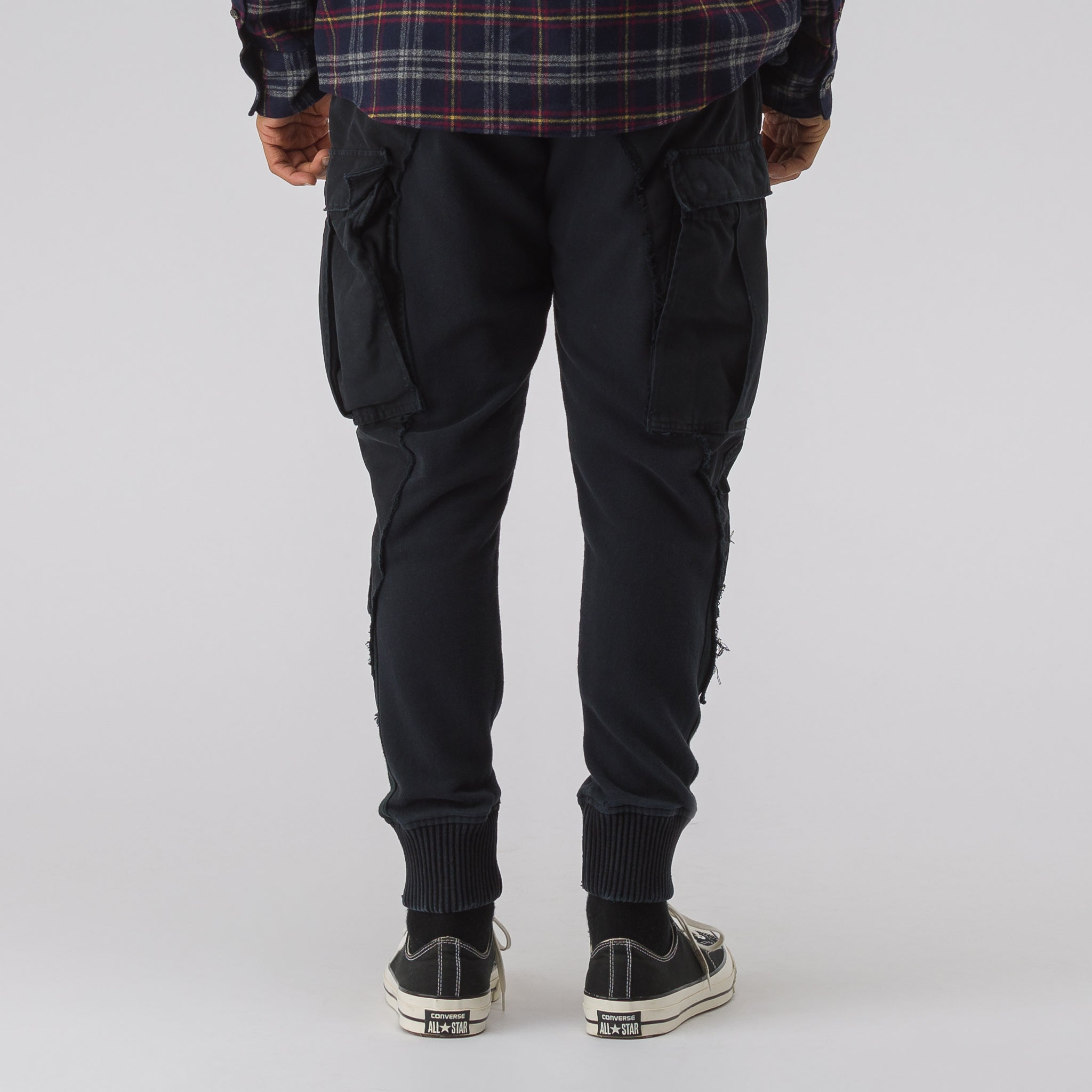M51/Fleece Slim Lounge Pant in Black