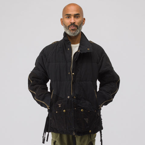 Greg Lauren Sleeping Bag/Canvas Retro Classic Puffy Jacket in Black - Notre