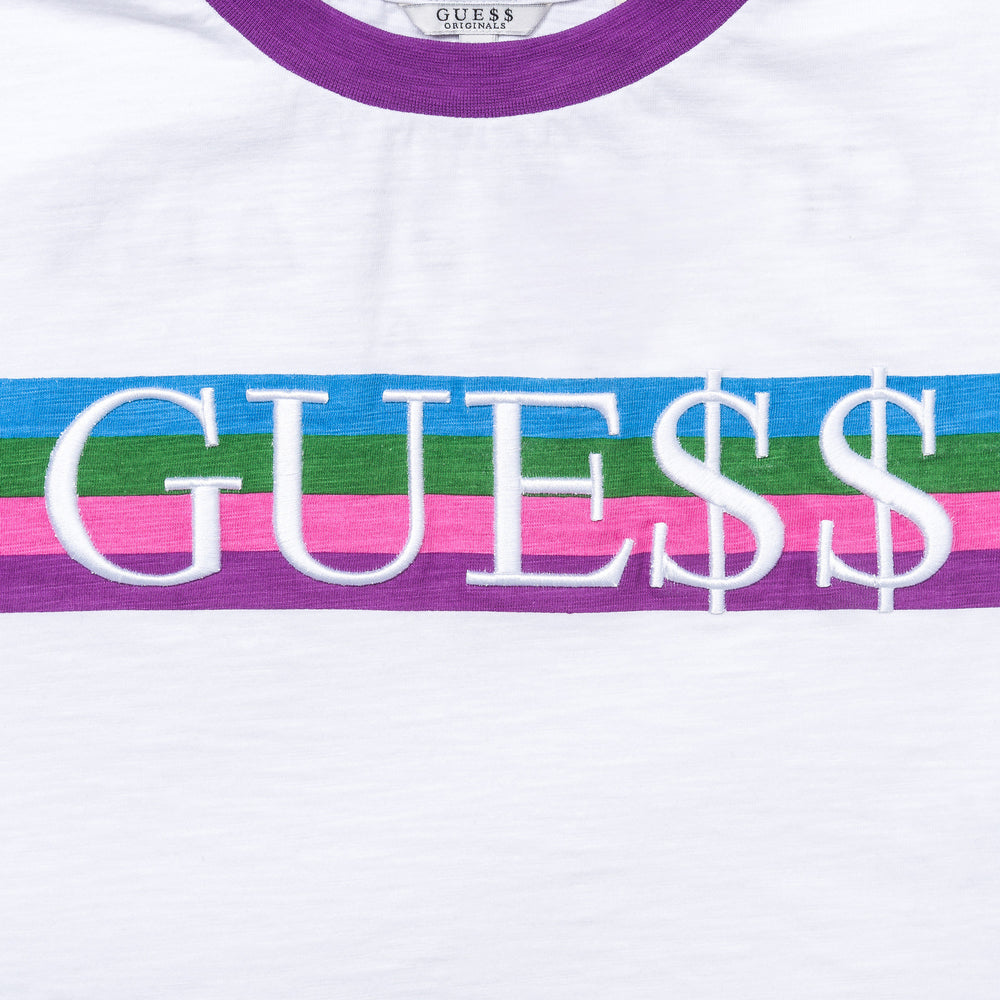 Guess x A$AP Rocky Women's Cropped Ringer Tee in Purple - Notre