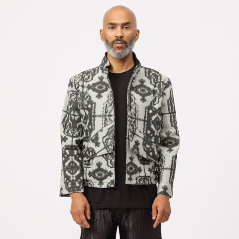 GutterTM Grey Print Jacket in Black - Notre