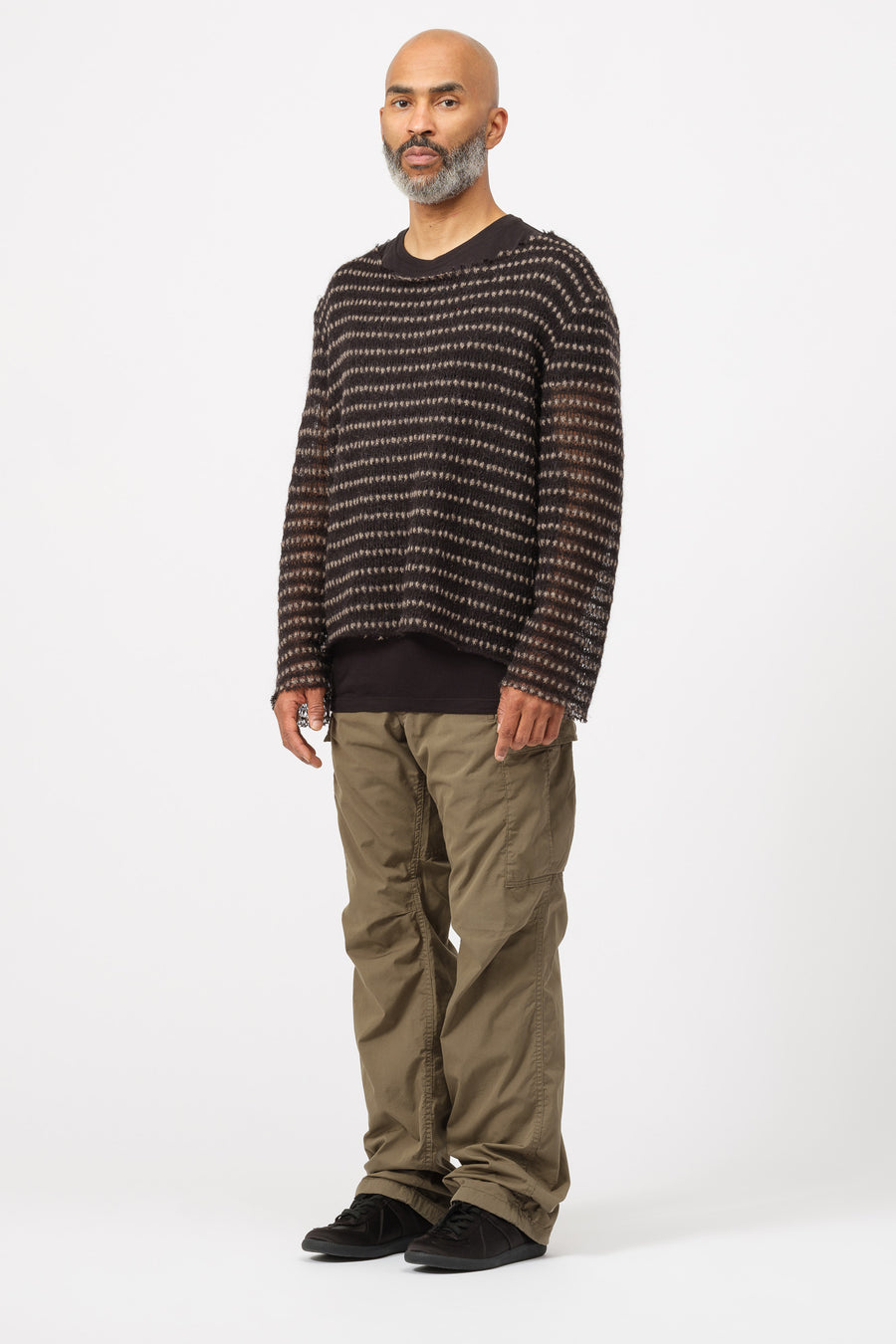 GutterTM Sweater in Black/Beige - Notre