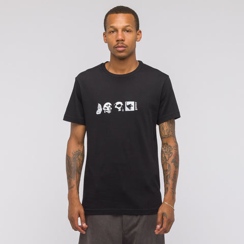 GutterTM 4 Face Graphic T-Shirt in Black - Notre