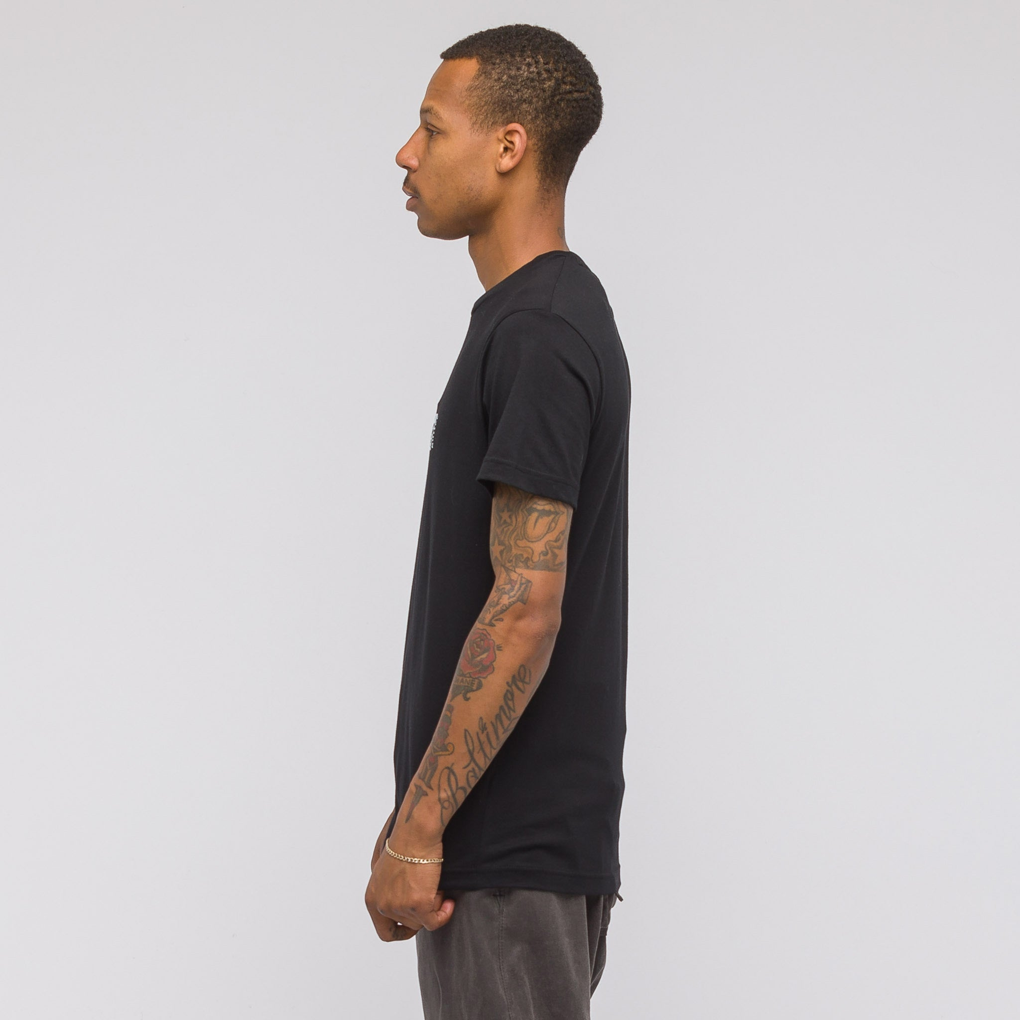 4 Face Graphic T-Shirt in Black