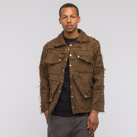 GutterTM Scrap Jacket in Brown - Notre