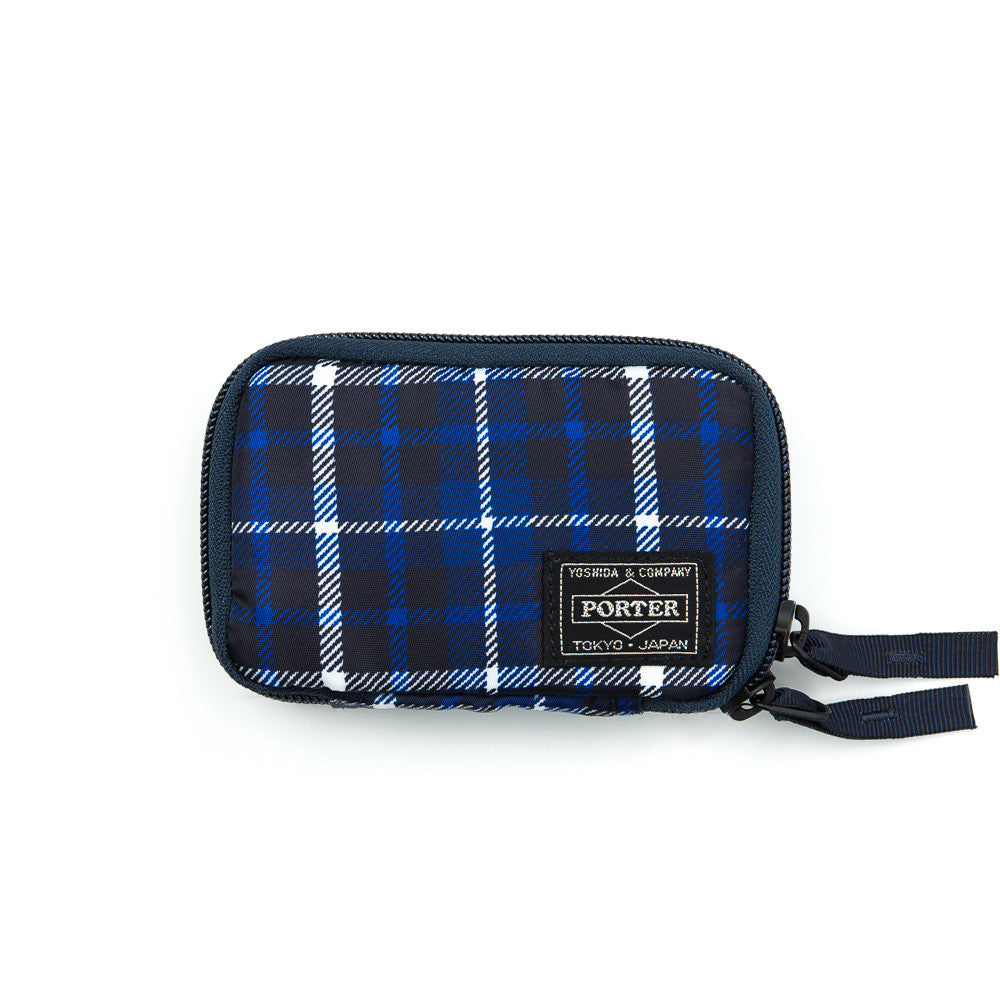 Head Porter Highland Zip Key Case in Blue Front View