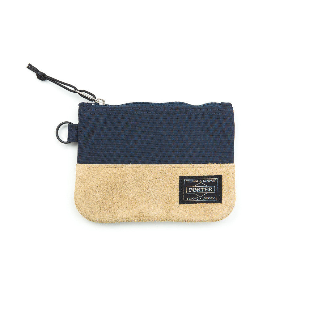 Head Porter Jackson Zip Wallet in Navy Front View