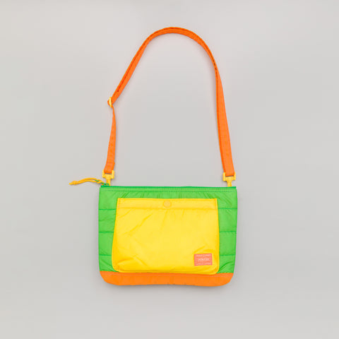 Head Porter RUKA Shoulder Bag in Green/Orange - Notre
