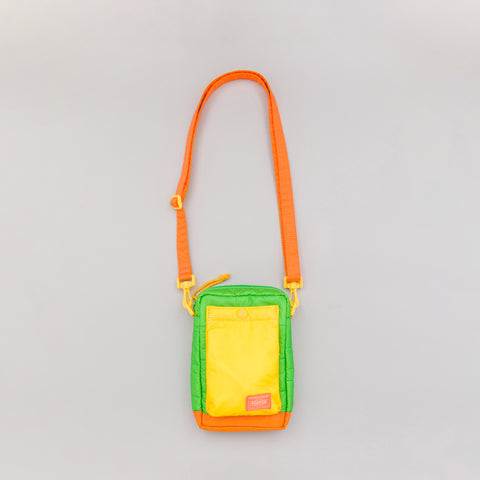 Head Porter RUKA Shoulder Pouch in Green/Orange - Notre