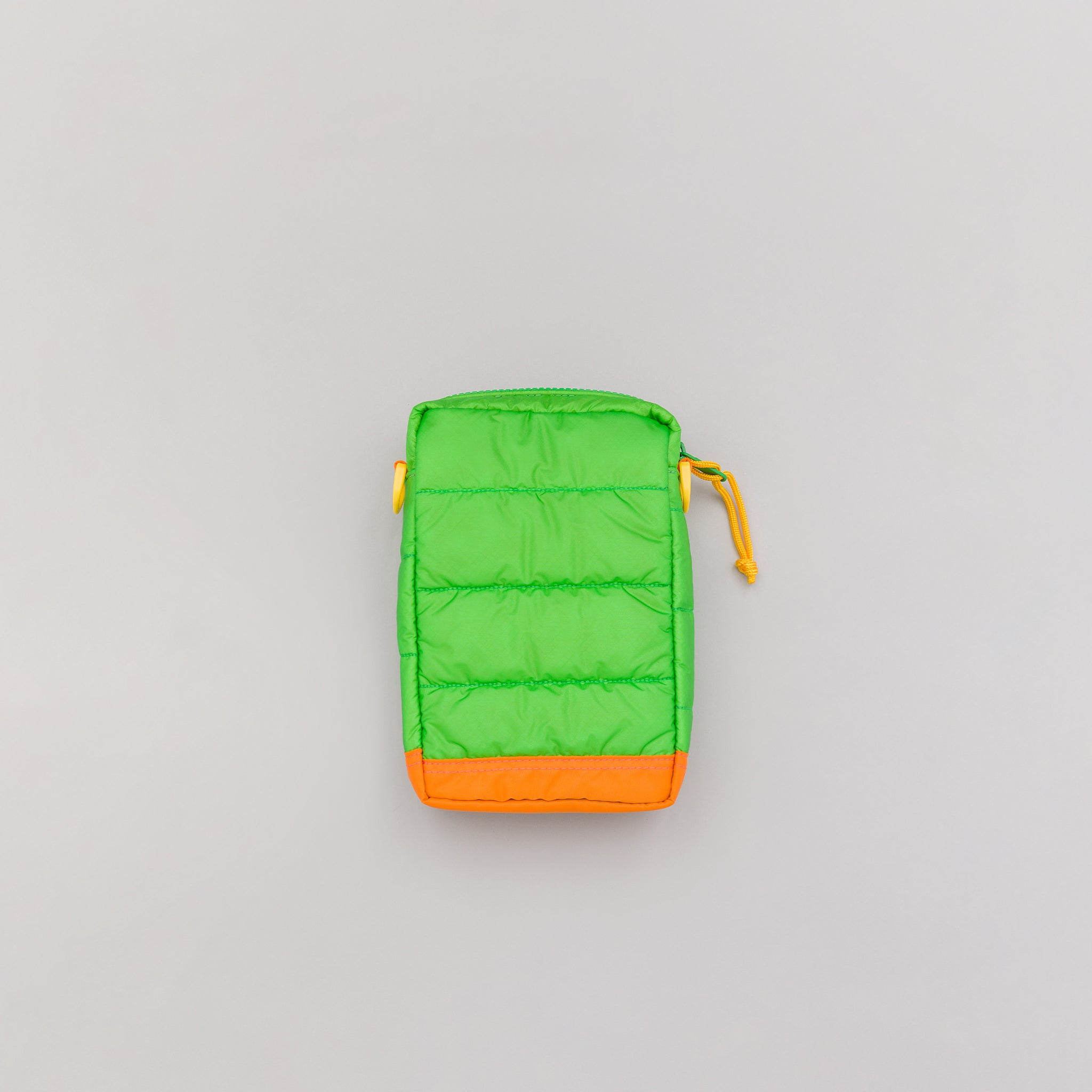 RUKA Shoulder Pouch in Green/Orange