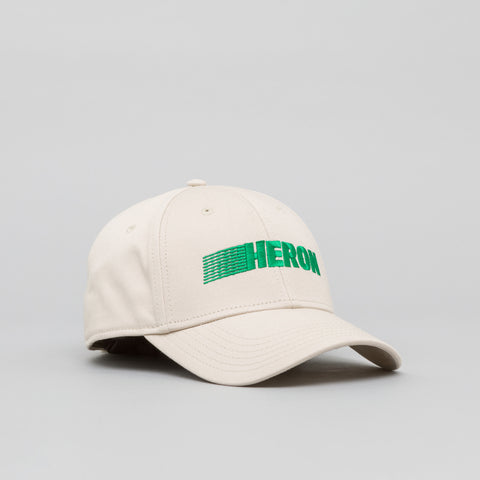 Heron Preston Heron Racing Baseball Cap in Beige/Green - Notre