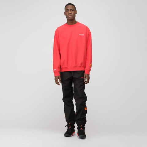 Heron Preston CTNMB Long Sleeve Crewneck in Red/White - Notre