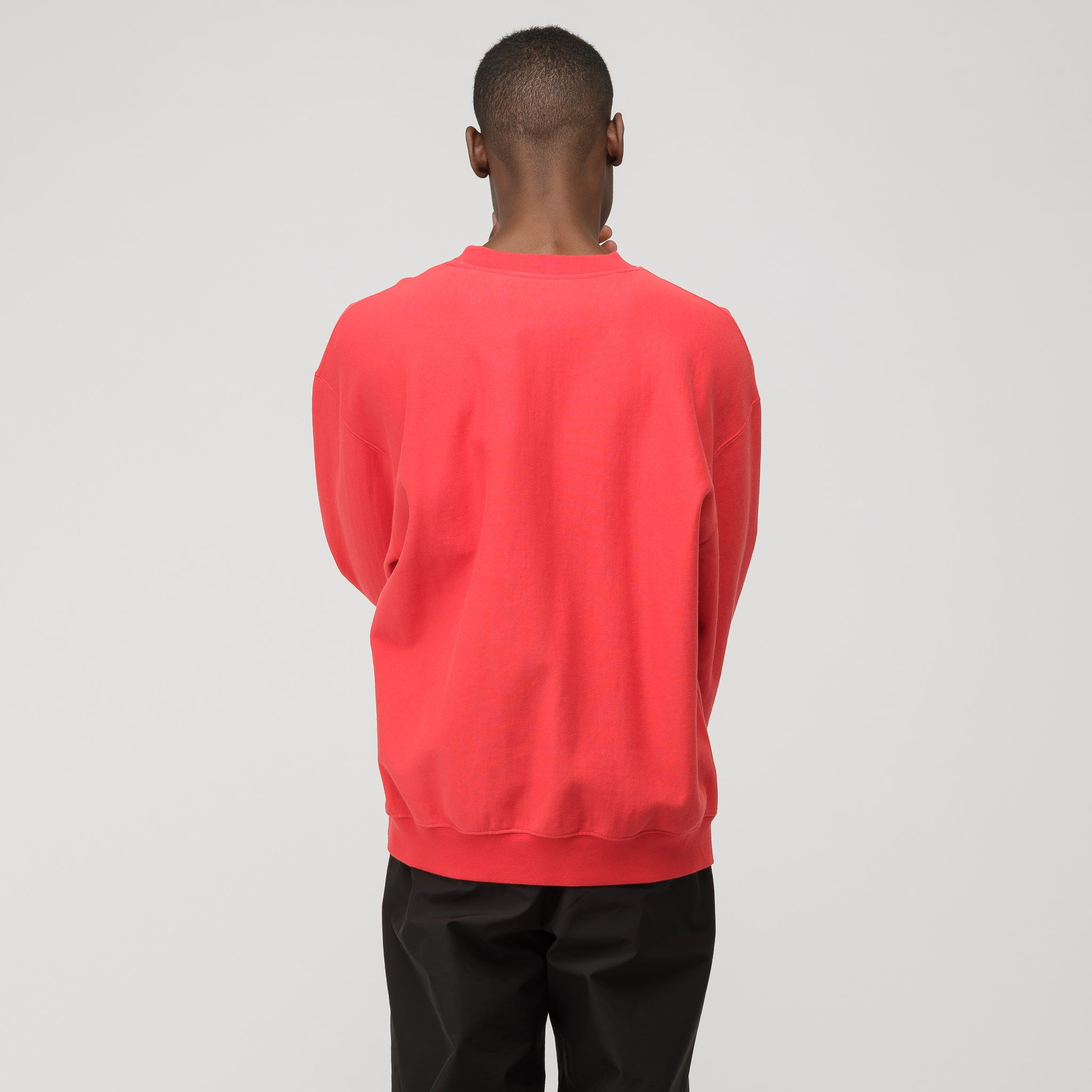 CTNMB Long Sleeve Crewneck in Red/White