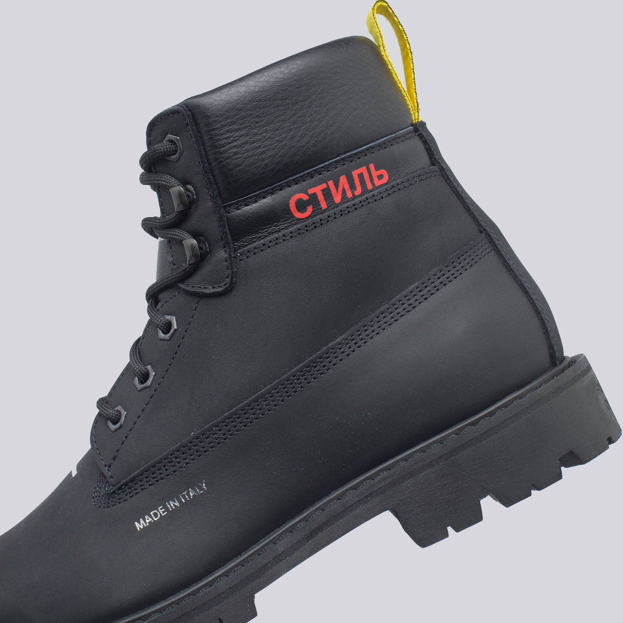 CTNMB Cleated Ankle Boots in Black/Red