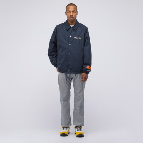 Heron Preston CTNMB Coach Jacket in Dark Blue - Notre