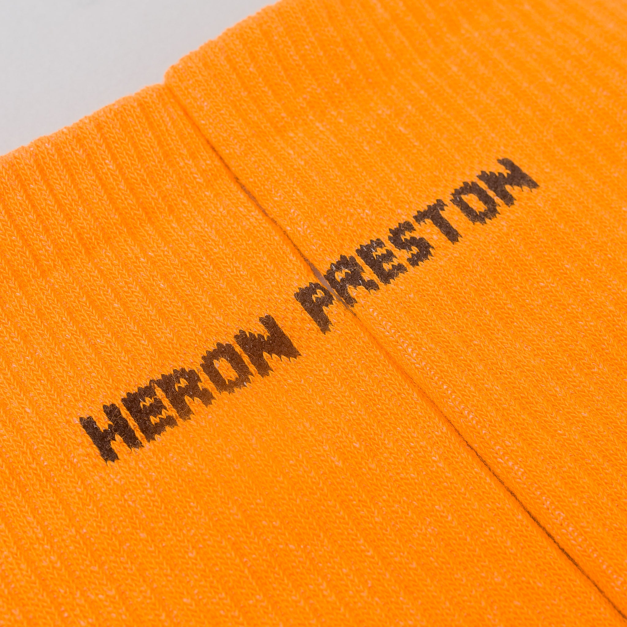 Heron Preston Cotton Rib Socks in Orange/Black