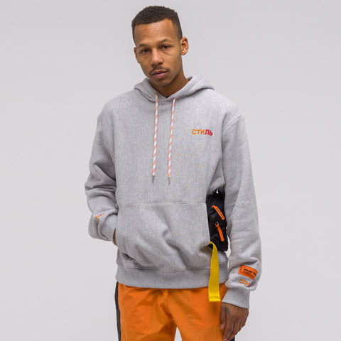 Heron Preston CTNMB Mel Egg Sweatshirt in Grey/Orange - Notre