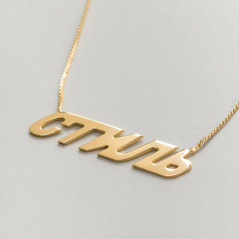 Heron Preston CTNMB Necklace in Gold - Notre