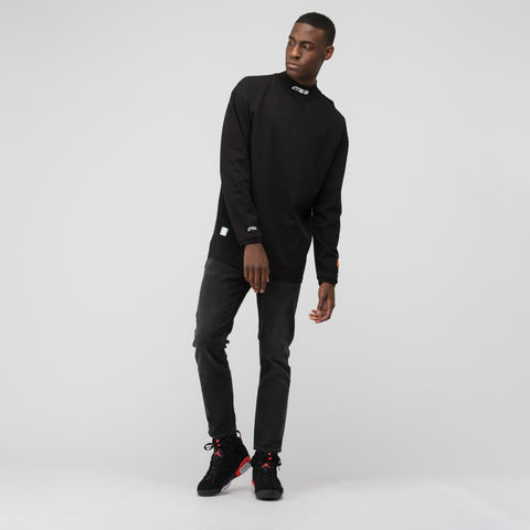 Heron Preston CTNMB Turtleneck Fit Long Sleeve in Black/White - Notre