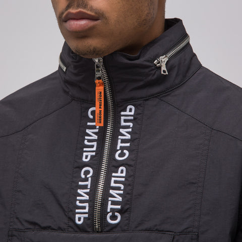 Heron Preston CTNMB Turtleneck Windbreaker in Black/White - Notre