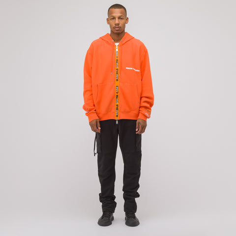 Heron Preston Handle Zip Hooded Sweatshirt in Orange - Notre