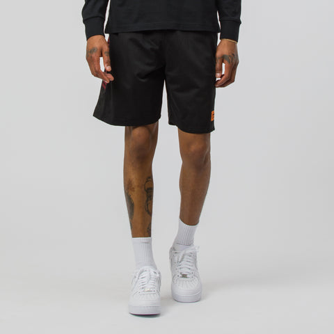 Heron Preston Heron Racing Basketball Short in Black/Red - Notre