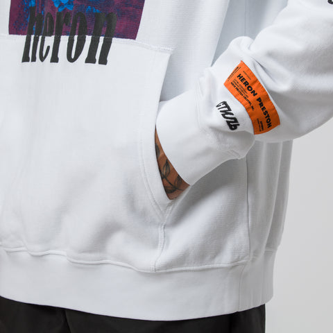 Heron Preston Herons Hoodie in Red/Blue/White Multi - Notre