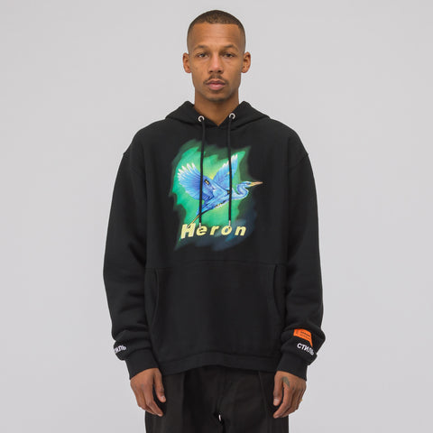 Heron Preston Heron Hooded Sweatshirt in Black/Blue - Notre
