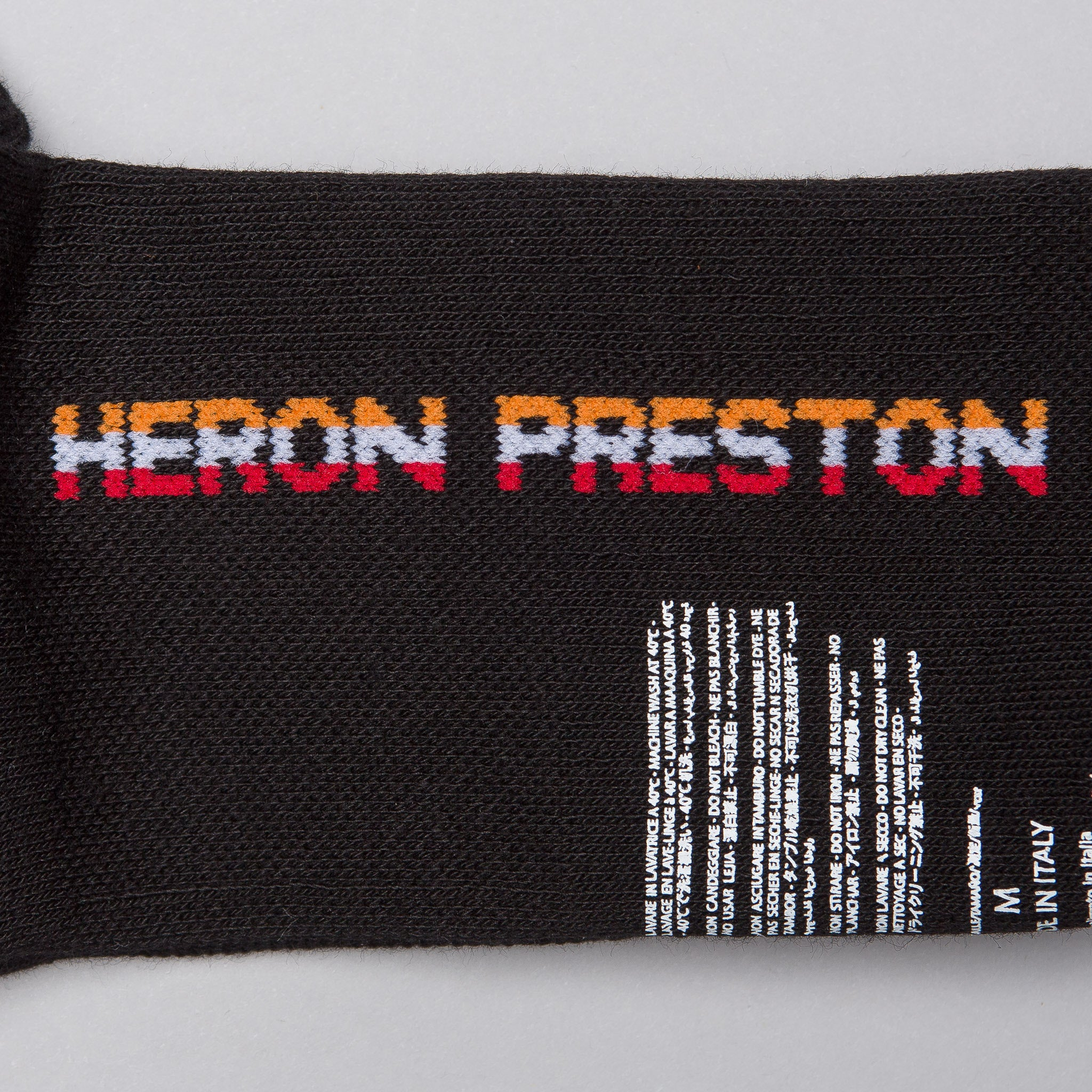 Italic HP Double Cuff Socks in Black